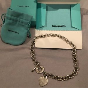 Tiffany&Co 925 Sterling Silver Heart tag necklace